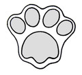 4700B CAT PAW MED cookie cutter