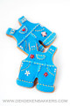 BOYS OVERALLS COOKIE CUTTER