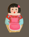 RUSSIAN NESTING DOLL 5 INCH COOKIE CUTTER