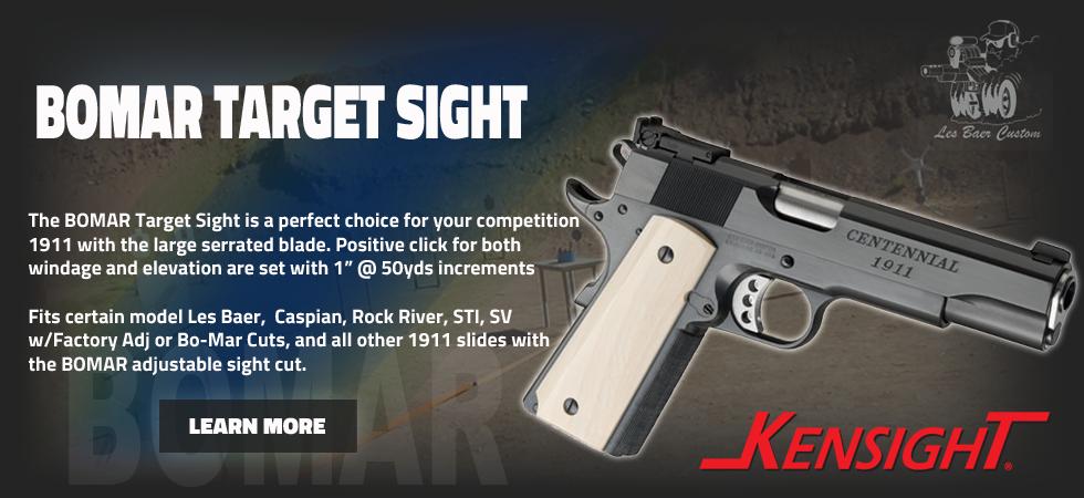 BOMAR Target sight for 1911 slide dovetail cut