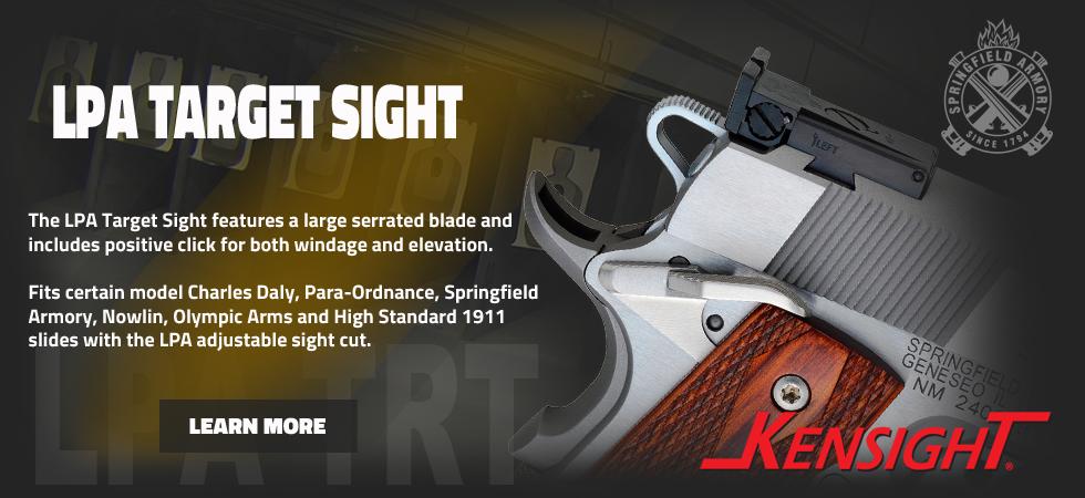 LPA Target Sights for 1911 slide dovetail cut