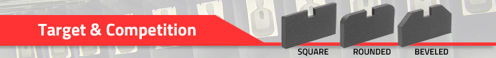 Kensight offer three standard sight blade types. Square, Rounded and Beveled
