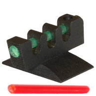 "Our Fiber Optic Front Sight comes with both red and green Fiber Optic rods (0.050"" Diameter) The rods are not installed at time of purchase. Your color choice will need to be installed with the front sight installation."