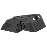 Kensight DAS 1911 Defense Adjustable Rear Sight White Dot with Serrated Blade