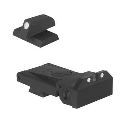 BoMar BMCS 1911 Kensight Sights Set White Dot Beveled - .200 Tall White Dot Front Sight Blade