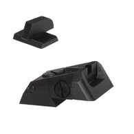 "Kensight DAS 1911 Defense Adjustable Rear Sight Set Recessed Blade - Serrated 0.200"" Front Sights (960-616)"