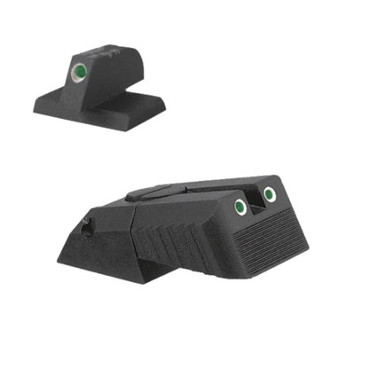 "Kensight DAS 1911 Defense Adjustable Rear Sight Set Tritium insert - Night Sights Serrated Blade - 0.200"" Front Sight"