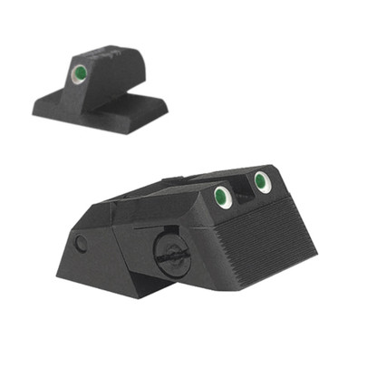 "Kensight DAS 1911 Defense Adjustable Rear Sight Set Tritium insert - Night Sights Serrated Blade - 0.230"" Front Sight (960-636)"