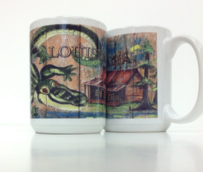 Swamp Alligator Coffee Mug