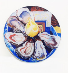 Oysters on the Half Shell Small Round Cutting Board