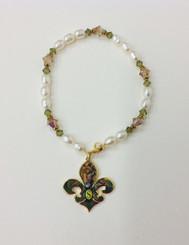 Southeastern Fleur de Lion Pearl Bracelet