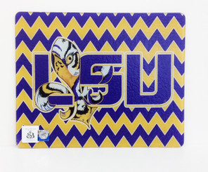LSU Chevron Tangled Tigre' Square Cutting Board