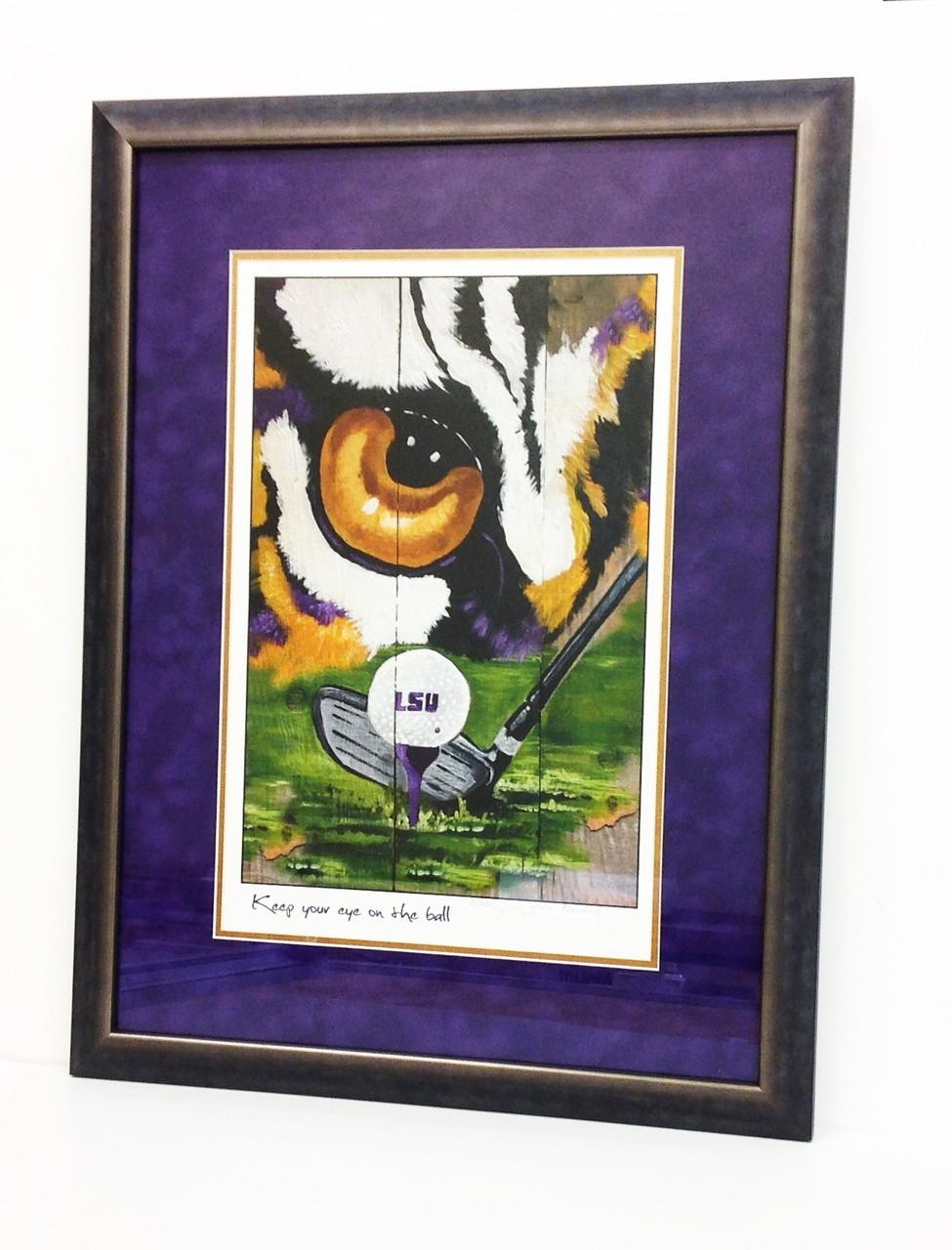 LSU Golf Print Framed - Lagniappe Frame Shoppe and Fleur deSign Studio