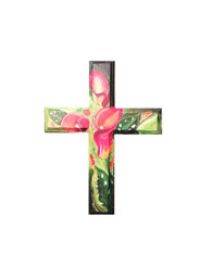 Hand Painted Calla Lily Cross