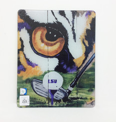 LSU Gold Tiger Eye Square Cutting Board