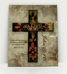 Crown Hardboard Cross John 3:16