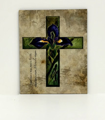 Purple Iris Cross Board
