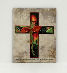 Calla Lily Cross Board