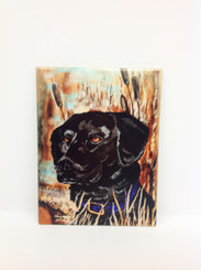 Black Lab Design on Ceramic Tile