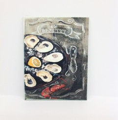 Bon Appetit Oysters Design on Ceramic Tile