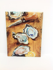 Oysters on Wood Design on Ceramic Tile