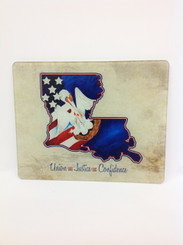 Union, Justice, Confidence Louisiana Cutting Board