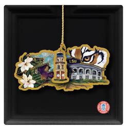 LSU COLLAGE ORNAMENT