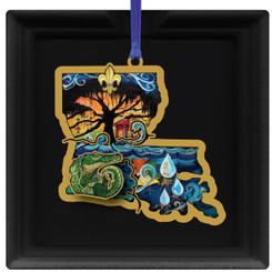 The Great Flood 2016 Christmas Ornament