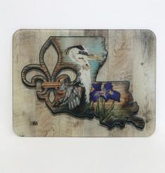 Blue Heron State Fleur Cutting Board