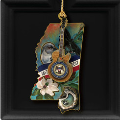 2017 Mississippi Ornament (instock)