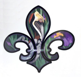 Pelican de Louisiana Decal