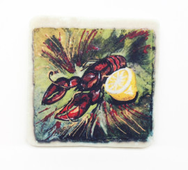Crawfish Sparkle Collection Coaster Set