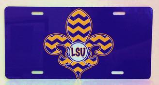 LSU Fleur de Lis License Plate