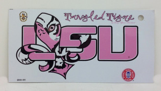 LSU Pink Tangled Tigre' Decal