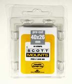 40 x 26 mm Scott Pre-Cut Mounts (Scott 1045 B/C)