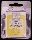 25 x 40 mm Scott Pre-Cut Mounts  (Scott 902 B/C)