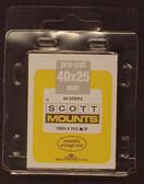 40 x 25 mm Scott Pre-Cut Mounts  (Scott 901B)