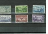 United States 1951 Commemorative Year Set, Scott Cat. Nos. 0998 - 1003, MNH