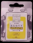 22 x 25 mm Scott Pre-Cut Mounts  (Scott 904B)