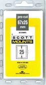 67 x 25 mm Scott Pre-Cut Mounts  (976 B/C)