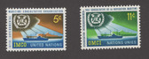 United Nations - Offices in New York, Scott Cat. No. 123 - 124, MNH