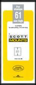 61 x 215 mm Scott Mount  (Scott 938 B/C)