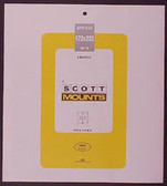 Scott Mounts Souvenir Sheets/Small Panes -  172 x 233 mm (1024 B/C)