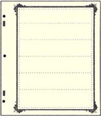 Advantage 6 - Pocket Stock Sheets (Specialty Border - 10 per package)