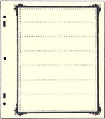 Advantage 7 - Pocket Stock Sheets (Specialty Border - 10 per package)