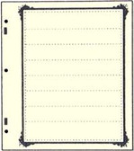 Advantage 8 - Pocket Stock Sheets (Specialty Border - 10 per package)
