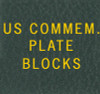 Scott US Commemorative Plate Blocks Binder Label
