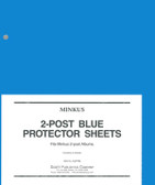 Minkus 2-Post Protector Sheets  (2 per Pack)