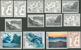 Faroe Islands 1975 Year Set, Scott Cat Nos. 7 - 20, MNH