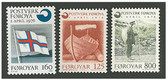 Faroe Islands 1976 Year Set, Scott Cat Nos. 21 - 23, MNH
